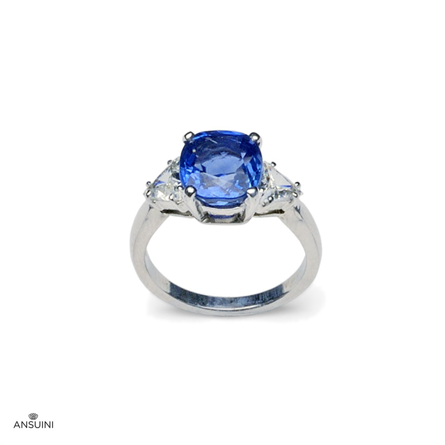SAPPHIRE TRIANGLE RING